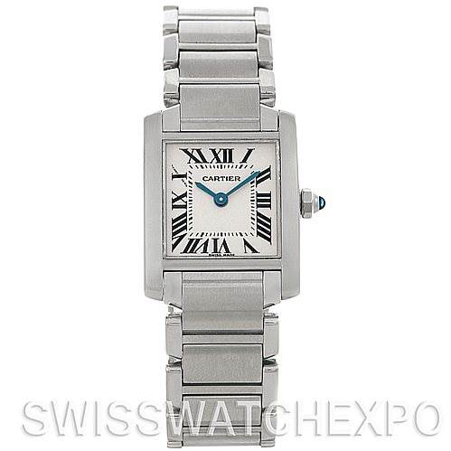 4446 Cartier Tank Francaise Ladies Steel Watch W51008Q3 SwissWatchExpo