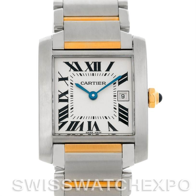 4867 Cartier Tank Francaise Midsize Steel 18k Gold W51012Q4 SwissWatchExpo