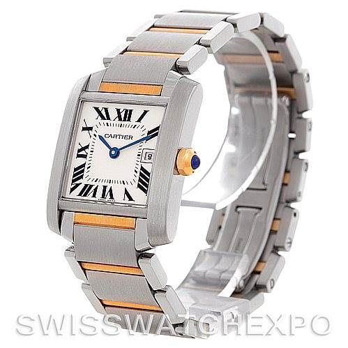 4808 Cartier Tank Francaise Midsize Steel 18k Gold W51012Q4 SwissWatchExpo