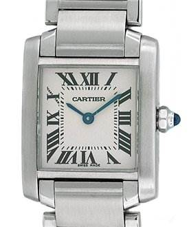886WC Cartier Ladies Ss Small Tank Francaise Model W51008q3 SwissWatchExpo