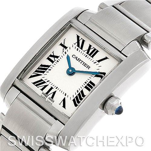 5002 Cartier Tank Francaise Ladies Steel Watch W51008Q3 SwissWatchExpo
