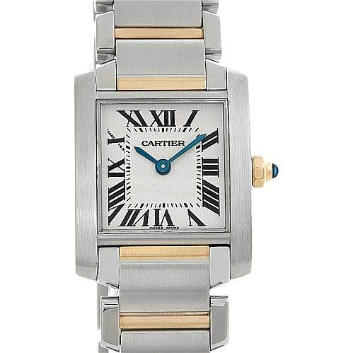 4995 Cartier Tank Francaise Ladies Steel and 18k Gold W51007Q4 SwissWatchExpo