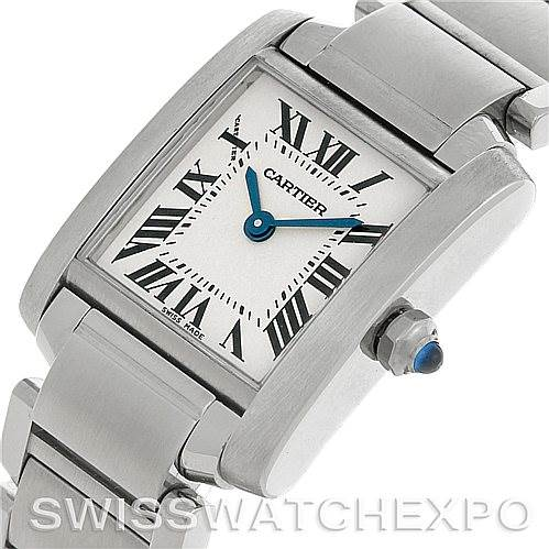 4992 Cartier Tank Francaise Ladies Steel Watch W51008Q3 SwissWatchExpo