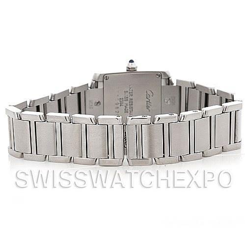 5036 Cartier Tank Francaise Ladies Steel Watch W51008Q3 SwissWatchExpo