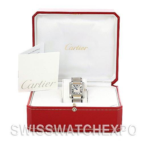 5058 Cartier Tank Francaise Midsize Steel 18k Gold W51012Q4 SwissWatchExpo