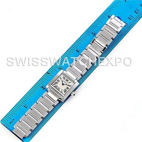 5096 Cartier Tank Francaise Ladies Steel Watch W51008Q3 SwissWatchExpo