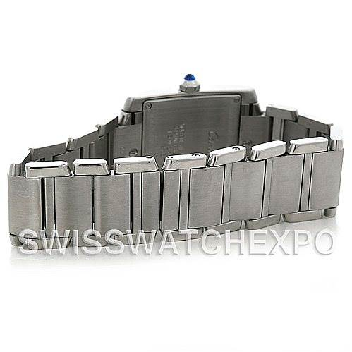 5159 Cartier Tank Francaise Midsize Stainless Steel Watch W51011Q3 SwissWatchExpo
