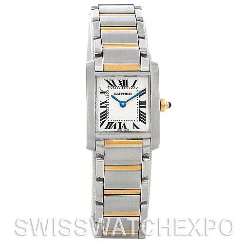 5162 Cartier Tank Francaise Ladies Steel and 18k Gold W51007Q4 SwissWatchExpo