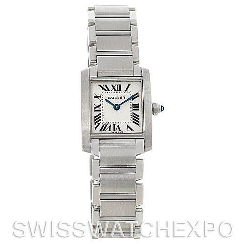 5278 Cartier Tank Francaise Ladies Steel Watch W51008Q3 SwissWatchExpo