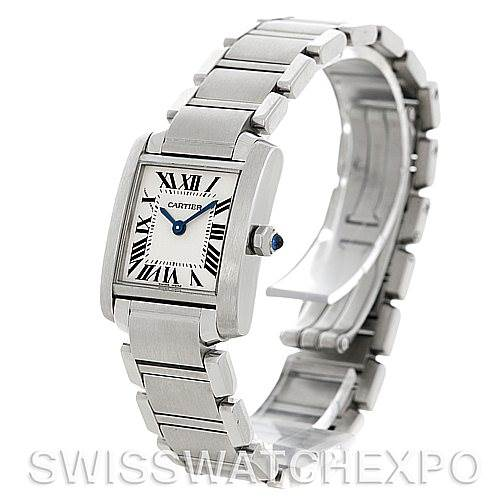 5277 Cartier Tank Francaise Ladies Steel Watch W51008Q3 SwissWatchExpo
