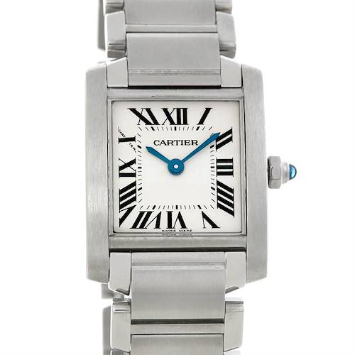 Photo of Cartier Tank Francaise Ladies Steel Watch W51008Q3
