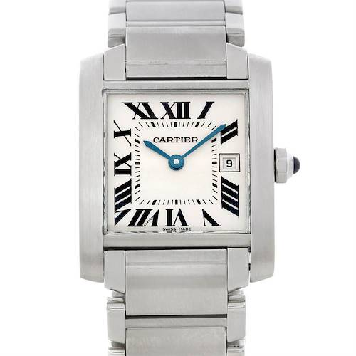 Photo of Cartier Tank Francaise Midsize Stainless Steel Watch W51011Q3