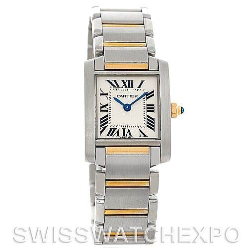 5253 Cartier Tank Francaise Ladies Steel and 18k Gold W51007Q4 SwissWatchExpo