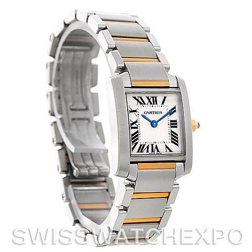 5399 Cartier Tank Francaise Ladies Steel and 18k Gold W51007Q4 SwissWatchExpo