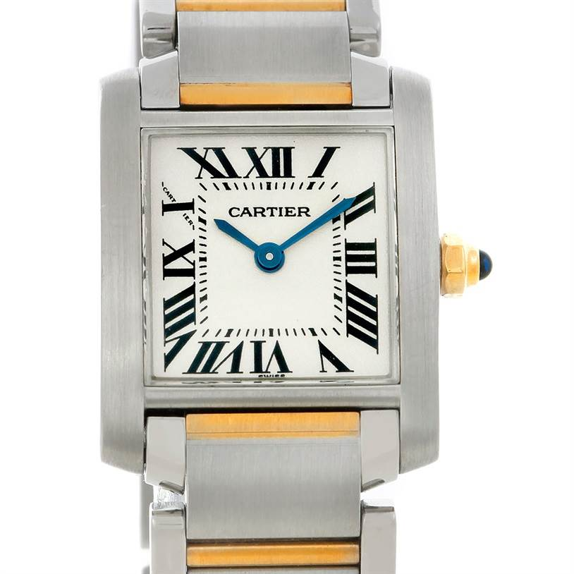 5397 Cartier Tank Francaise Ladies Steel and 18k Gold W51007Q4 SwissWatchExpo