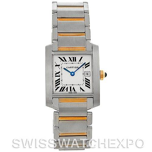 5336 Cartier Tank Francaise Midsize Steel 18k Gold Watch W51012Q4 SwissWatchExpo