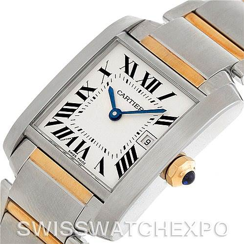 5336 Cartier Tank Francaise Midsize Steel 18k Gold Watch W51012Q4 SwissWatchExpo