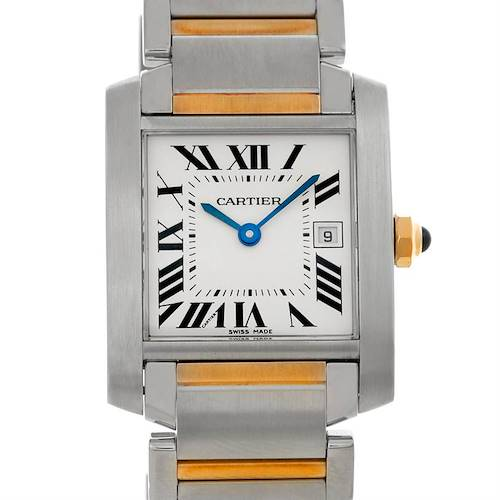 Photo of Cartier Tank Francaise Midsize Steel 18k Gold Watch W51012Q4