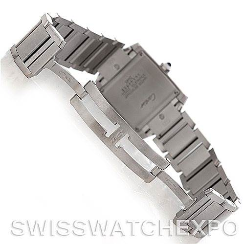 5238 Cartier Tank Francaise Midsize Stainless Steel Watch W51011Q3 SwissWatchExpo