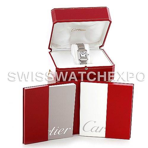 5330 Cartier Tank Francaise Midsize Stainless Steel Watch W51011Q3 SwissWatchExpo