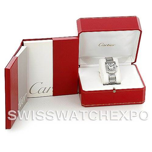 5468 Cartier Tank Francaise Midsize Stainless Steel Watch W51011Q3 SwissWatchExpo