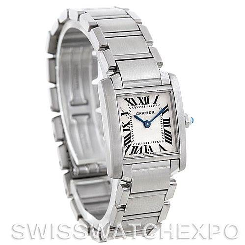 5334 Cartier Tank Francaise Ladies Steel Watch W51008Q3 SwissWatchExpo