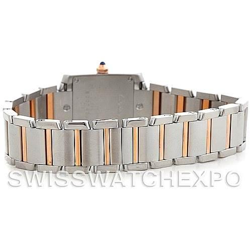 5401 Cartier Tank Francaise Small Steel 18k Rose Gold MOP Watch W51027Q4 SwissWatchExpo