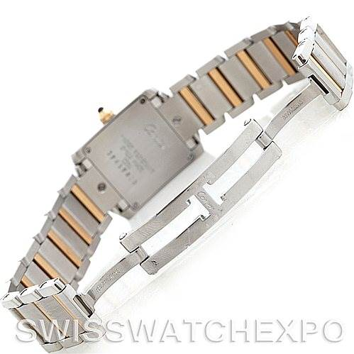 5687 Cartier Tank Francaise Ladies Steel and 18k Gold W51007Q4 SwissWatchExpo