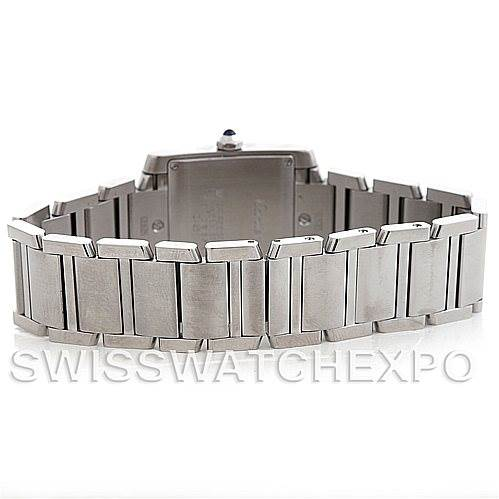 5568 Cartier Tank Francaise Midsize Stainless Steel Watch W51011Q3 SwissWatchExpo