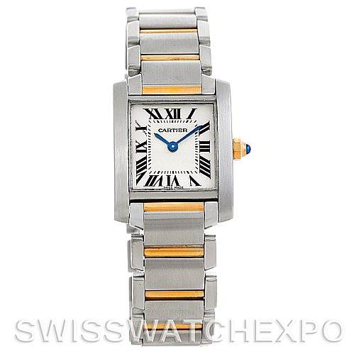 5742 Cartier Tank Francaise Ladies Steel and 18k Gold W51007Q4 SwissWatchExpo