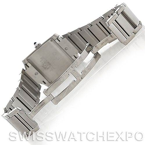 5467 Cartier Tank Francaise Midsize Stainless Steel Watch W51011Q3 SwissWatchExpo