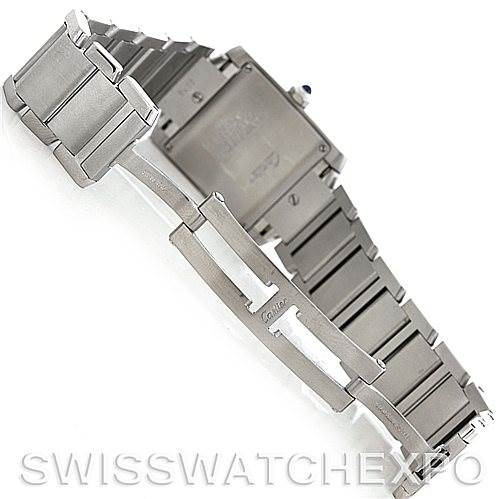 5239 Cartier Tank Francaise Midsize Stainless Steel Watch W51011Q3 SwissWatchExpo