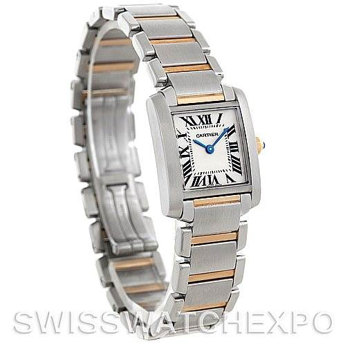 5818 Cartier Tank Francaise Ladies Steel and 18k Gold W51007Q4 SwissWatchExpo