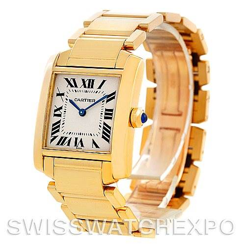 5849 Cartier Tank Francaise Midsize 18K Yellow Gold Watch W50003N2 SwissWatchExpo