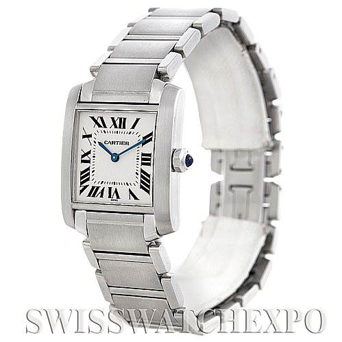 5930 Cartier Tank Francaise Midsize Stainless Steel Watch SwissWatchExpo