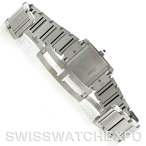 5927 Cartier Tank Francaise Midsize Stainless Steel Watch W51011Q3 SwissWatchExpo