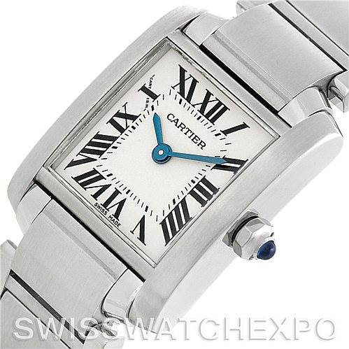 5822 Cartier Tank Francaise Ladies Steel Watch W51008Q3 SwissWatchExpo