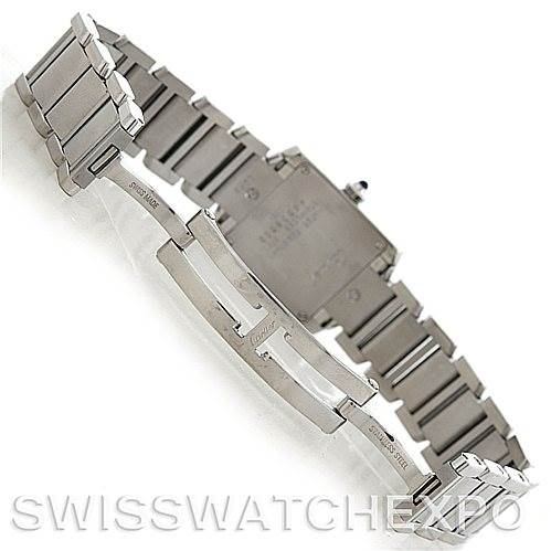 5822 Cartier Tank Francaise Ladies Steel Watch W51008Q3 SwissWatchExpo