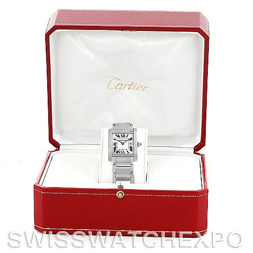 5865A Cartier Tank Francaise Midsize Stainless Steel Watch W51011Q3 SwissWatchExpo
