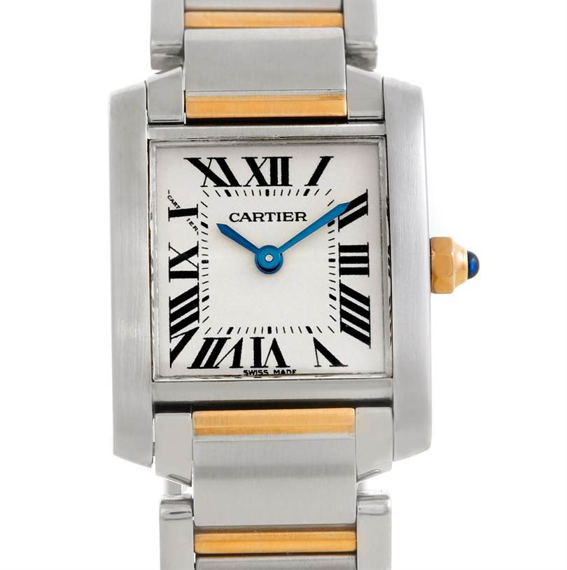 5828 Cartier Tank Francaise Ladies Steel and 18k Gold W51007Q4 SwissWatchExpo