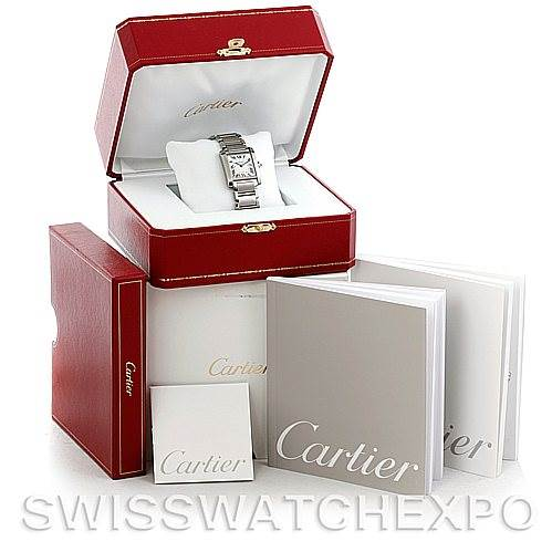 5954 Cartier Tank Francaise Midsize Stainless Steel Watch W51011Q3 SwissWatchExpo