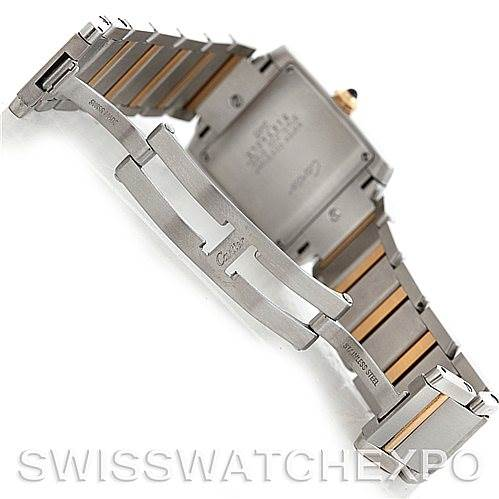 6010 Cartier Tank Francaise Midsize Steel 18k Gold W51012Q4 SwissWatchExpo