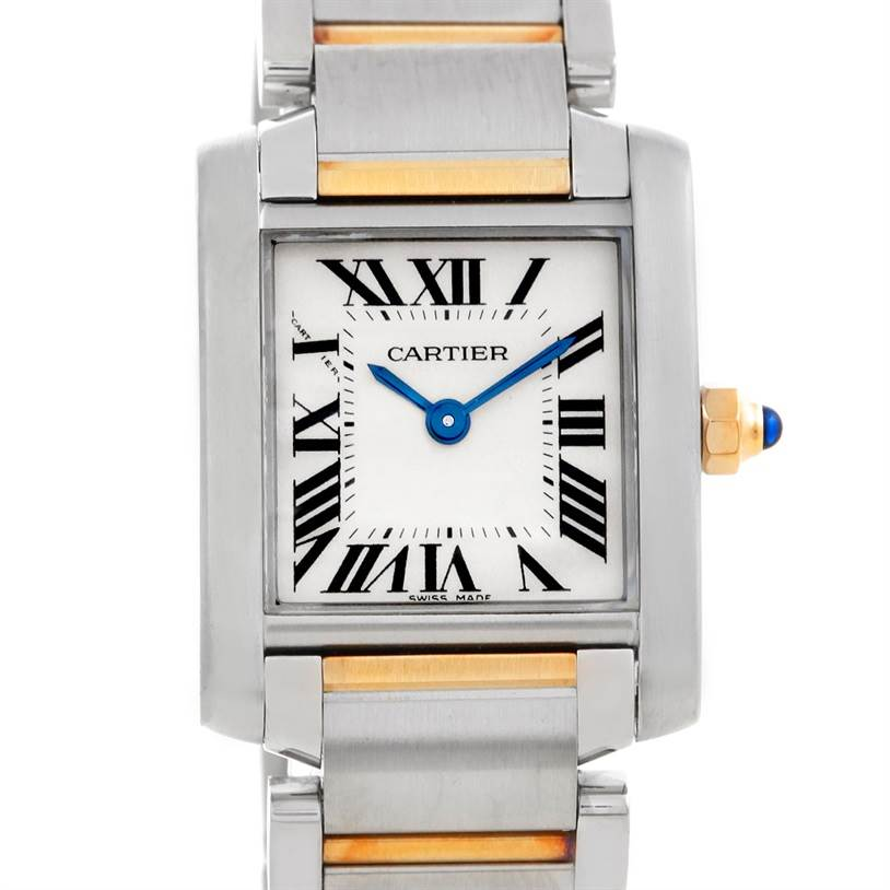 6012 Cartier Tank Francaise Ladies Steel and 18k Gold W51007Q4 SwissWatchExpo