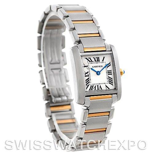 6067 Cartier Tank Francaise Ladies Steel and 18k Gold W51007Q4 SwissWatchExpo