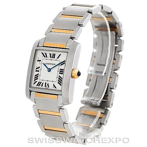 6070 Cartier Tank Francaise Midsize Steel 18k Gold Watch SwissWatchExpo