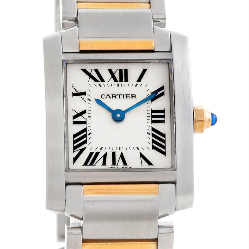 6061 Cartier Tank Francaise Ladies Steel and 18k Gold W51007Q4 SwissWatchExpo