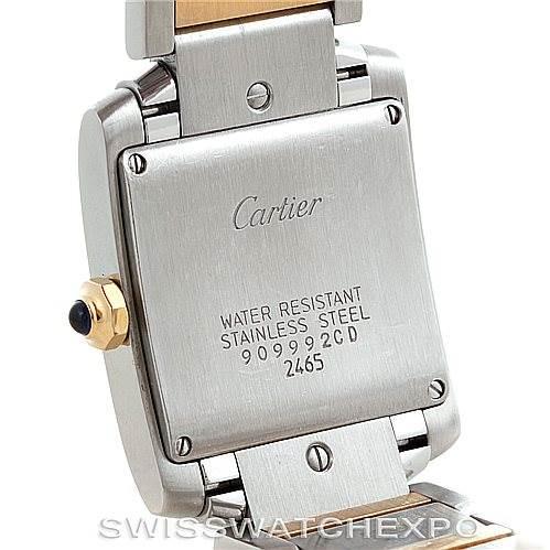 6127 Cartier Tank Francaise Midsize Steel 18k Gold W51012Q4 SwissWatchExpo