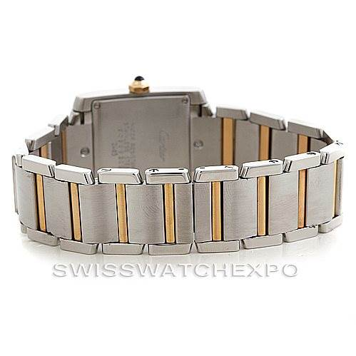 6127 Cartier Tank Francaise Midsize Steel 18k Gold W51012Q4 SwissWatchExpo