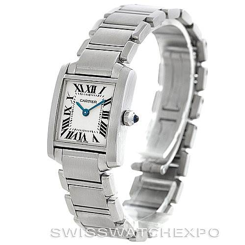 6094 Cartier Tank Francaise Ladies Stainless Steel Watch W51008Q3 SwissWatchExpo