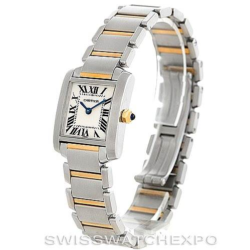 6112 Cartier Tank Francaise Ladies Steel 18k Gold Watch W51007Q4 SwissWatchExpo
